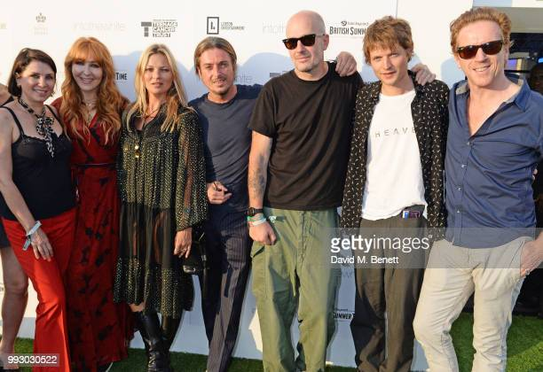 Sadie Frost Charlotte Tilbury Kate Moss Darren Strowger Jake Chapman Count Nikolai von Bismarck and Damian Lewis attend the London launch of...