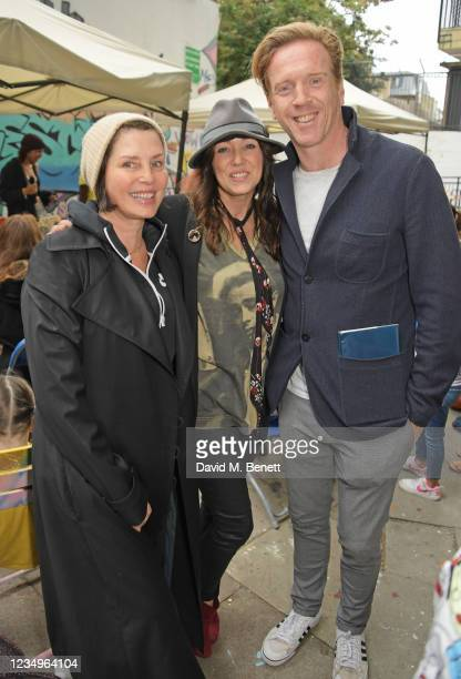 """Sadie Frost, Debbi Clark and Damian Lewis attend a performance of the Sir Hubert Von Herkomer Arts Foundation's production of """"A Brave New World"""" in..."""