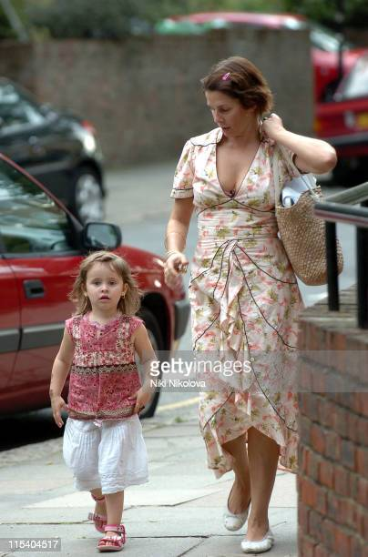 Sadie Frost during Sadie Frost Arrives at Her London Home July 13 2005 at Private Residence in London Great Britain