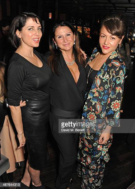 Sadie Frost, Fran Cutler and Jaime Winstone attend Fran Cutler's birthday dinner at Bo Lang on May 1, 2014 in London, England.