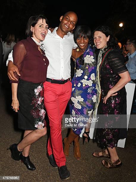 Sadie Frost Greg McKenzie Brenda Emmanus and Katie Grand attend The Serpentine Gallery summer party at The Serpentine Gallery on July 2 2015 in...
