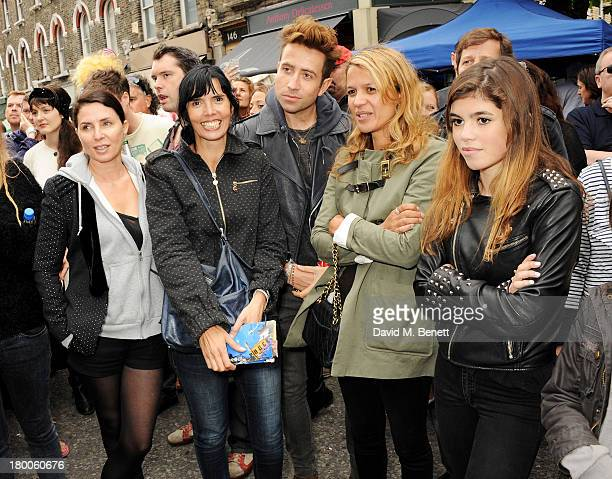 Sadie Frost guest Nick Grimshaw Lisa Moorish and daughter Molly Gallagher attend the Primrose Hill Festival on September 8 2013 in London England