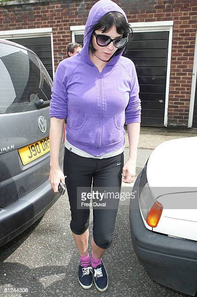 Sadie Frost leaves Amy Winehouse's house on May 27 2008 in London England