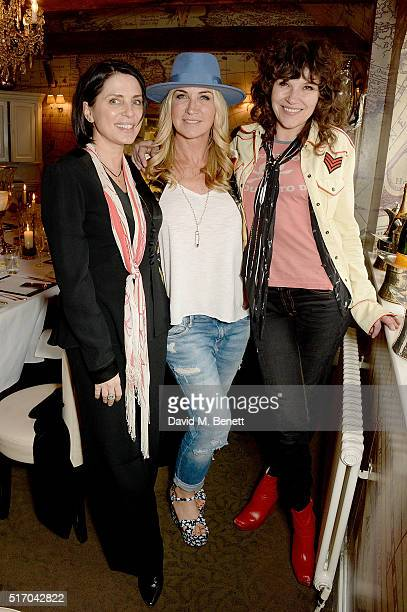 Sadie Frost Meg Matthews and Jess Morris attend Meg's 50th birthday lunch at Mews of Mayfair on March 23 2016 in London England