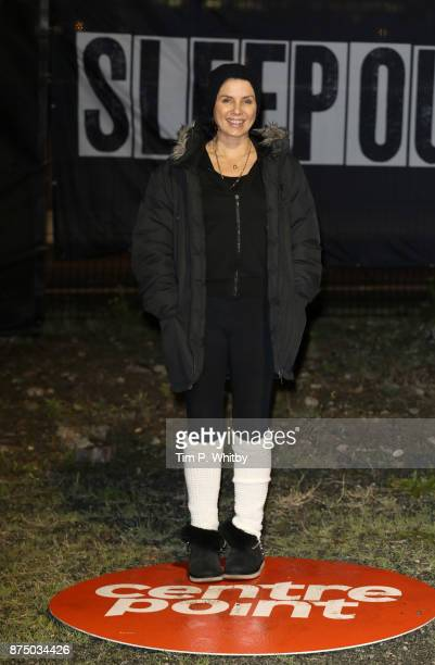 Sadie Frost poses for a photo during the Sleep Out Fundraiser at Greenwich Peninsula on November 16 2017 in London England The Sleep Out Fundraiser...