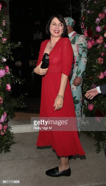 Sadie Frost seen attending Annabel's x Dior dinner to celebrate the RHS Chelsea Flower Show on May 21 2018 in London England