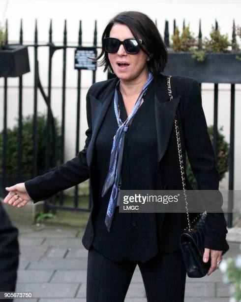 Sadie Frost seen celebrating Kate Moss's 44th birthday at Mark's Club in Mayfair on January 16 2018 in London England