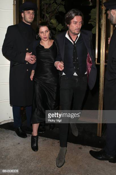 Sadie Frost seen leaving Ara Vartanian x Kate Moss launch after party held at Sumosan restaurant on May 17 2017 in London England