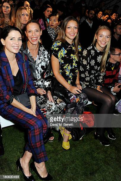 Sadie Frost Tiphaine de Lussy and daughters Seraphine and Agathe attend the Unique SS14 runway show during London Fashion Week on September 15 2013...