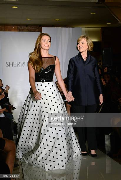 Sadie Robertson and Sherri Hill attend the Evening By Sherri Hill show during Spring 2014 MercedesBenz Fashion Week at Trump Tower on September 9...
