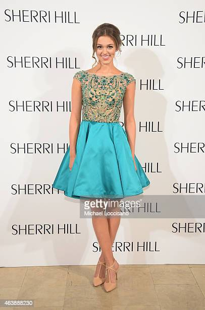 Sadie Robertson attends the Sherri Hill fashion show during MercedesBenz Fashion Week Fall 2015 at The Plaza on February 19 2015 in New York City