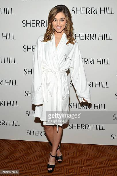 Sadie Robertson poses during the Sherri Hill Fall 2016 fashion show during New York Fashion Week The Shows on February 12 2016 in New York City