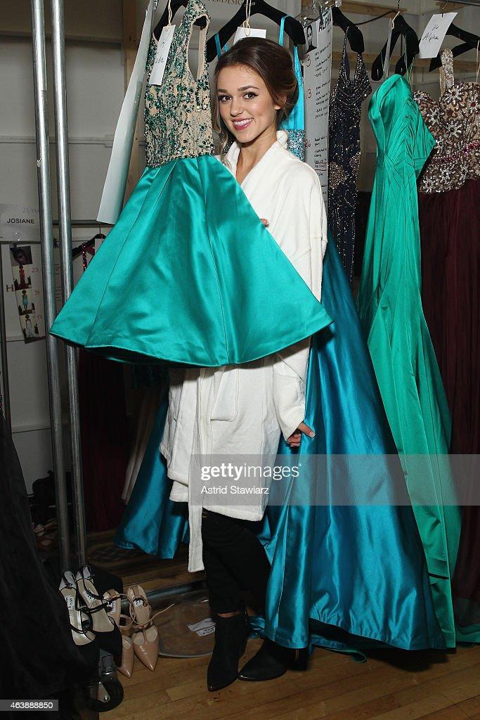 Sherri Hill - Backstage - Mercedes-Benz Fashion Week Fall 2015 : News Photo