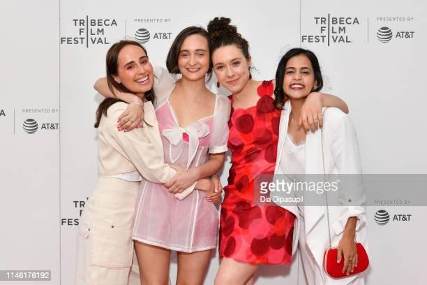"Sadie Scott, Isabelle Barbier, Emily Cohn, and Deeksha Ketkar attend the ""CRSHD"" screening during the 2019 Tribeca Film Festival at Village East..."