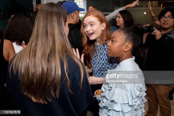Sadie Sink and Priah Ferguson attend the Season 3 Stranger Things press junket at The London Hotel on June 27 2019 in West Hollywood California