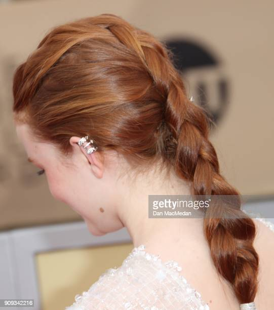 Sadie Sink arrives at the 24th Annual Screen Actors Guild Awards at The Shrine Auditorium on January 21 2018 in Los Angeles California