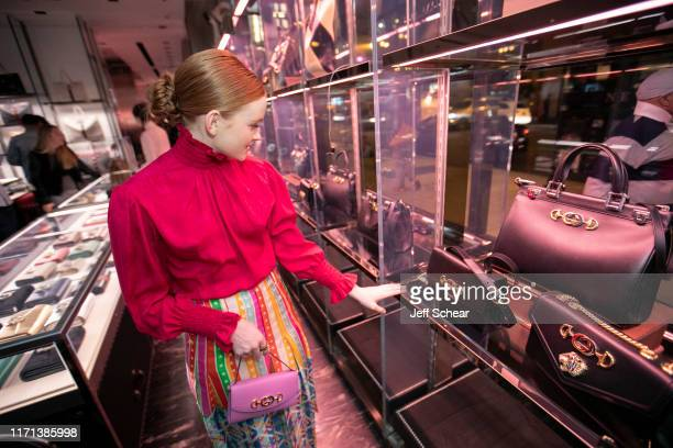 Sadie Sink attend Gucci Hosts Private Event To Celebrate The Gucci Zumi Handbag Collection on September 26 2019 in Chicago Illinois Photo by Jeff...