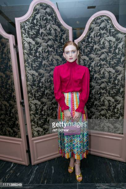 Sadie Sink attend Gucci Hosts Private Event To Celebrate The Gucci Zumi Handbag Collection on September 26 2019 in Chicago Illinois