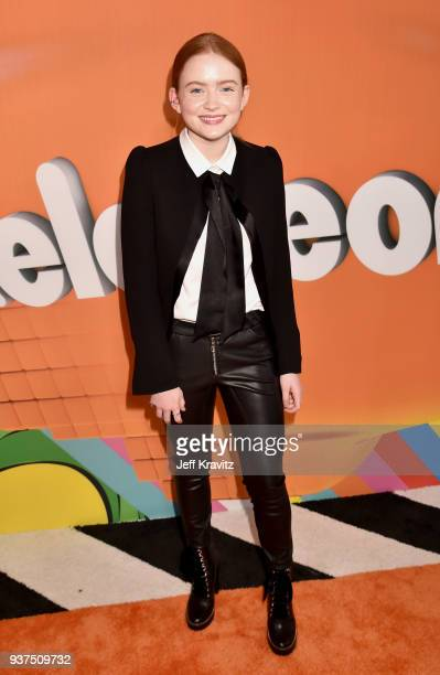 Sadie Sink attends Nickelodeon's 2018 Kids' Choice Awards at The Forum on March 24 2018 in Inglewood California