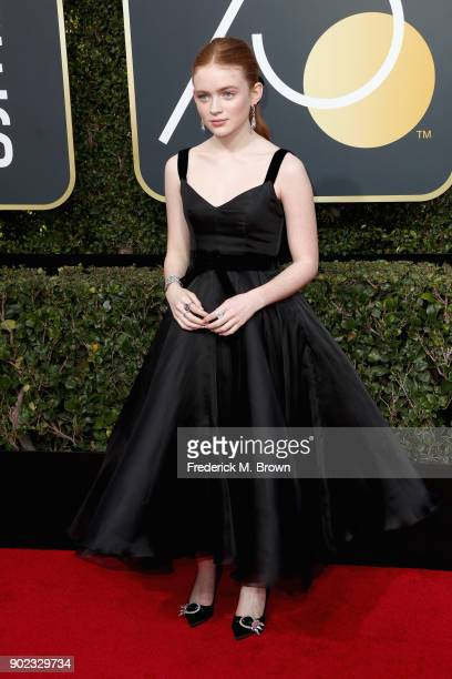 Sadie Sink attends The 75th Annual Golden Globe Awards at The Beverly Hilton Hotel on January 7 2018 in Beverly Hills California