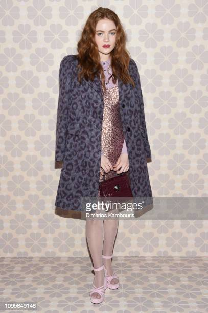 Sadie Sink attends the Kate Spade Fashion Show during New York Fashion Week at Cipriani 25 Broadway on February 8, 2019 in New York City.