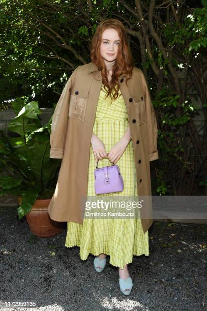 Sadie Sink attends the Kate Spade New York front row during New York Fashion Week at Elizabeth Street Gardens on September 07, 2019 in New York City.