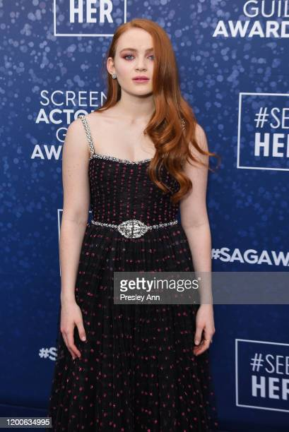 Sadie Sink attends the SeeHer platform at the 26th annual Screen Actors Guild Awards @seeHER2020 at The Shrine Auditorium on January 19 2020 in Los...