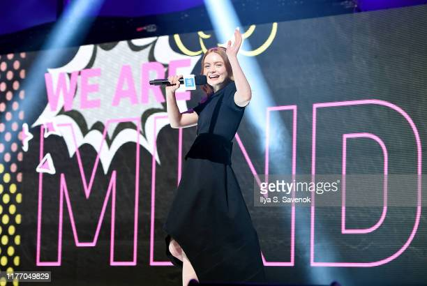Sadie Sink speaks onstage during WE Day UN 2019 at Barclays Center on September 25 2019 in New York City
