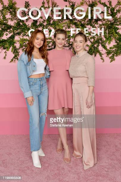 Sadie Stanley Lili Reinhart and Sydney Sweeney attend Covergirl Clean Fresh Launch Party on January 16 2020 in Los Angeles California