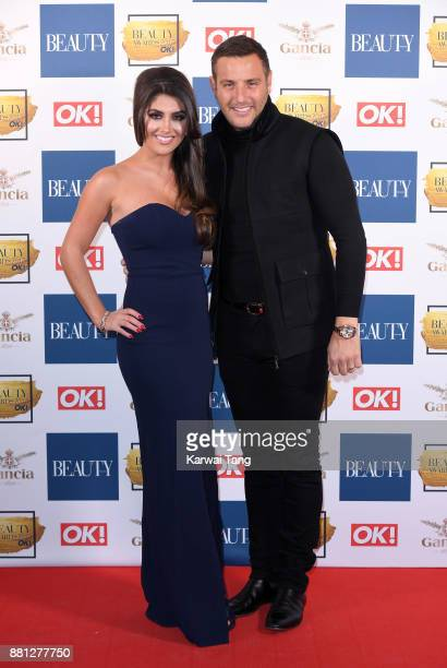 Sadie Stuart and Elliot Wright attend The Beauty Awards at Tower of London on November 28 2017 in London England