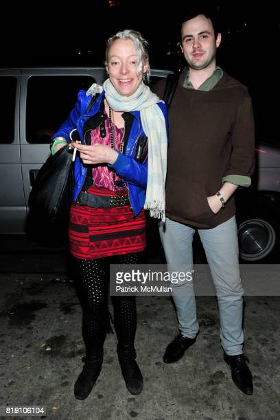 Sadie Weis and Jeremy McConnell attend DUSTIN WAYNE HARRIS Photo Exhibit 'Cake Mixx' at Heist Gallery on March 11 2010 in New York City