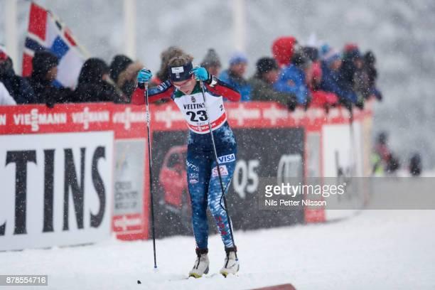 SadieBjornsen of USAduring the cross country sprint qualification during the FIS World Cup Ruka Nordic season opening at Ruka Stadium on November...