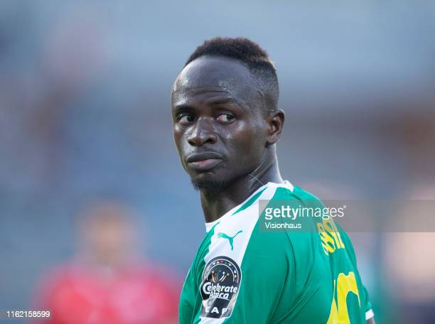 Sadio Mané of Senegal during the 2019 Africa Cup of Nations Semi Final match between Senegal and Tunisia at 30th June Stadium on July 14, 2019 in...