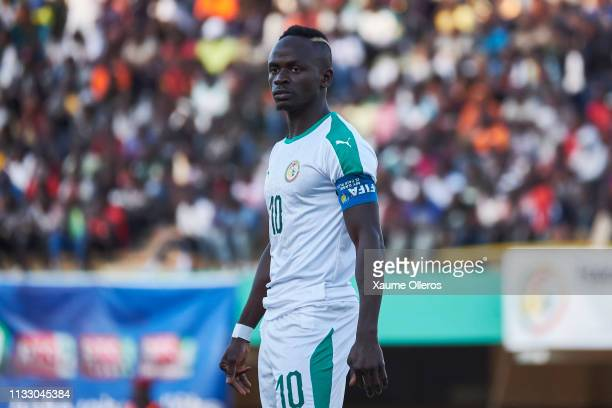 Sadio Mane looks on during a friendly match between Senegal and Mali after both teams qualified for the 2019 CAN held in Egypt, on March 26, 2019 in...