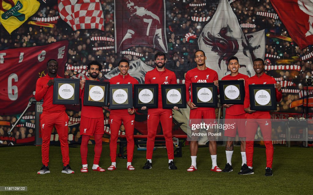 Liverpool Players Receive Their Ballon D'or Nominations : News Photo