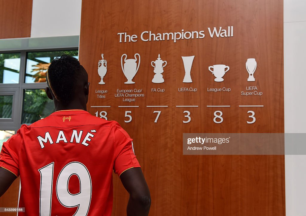 Liverpool Unveil New Signing Sadio Mane : News Photo