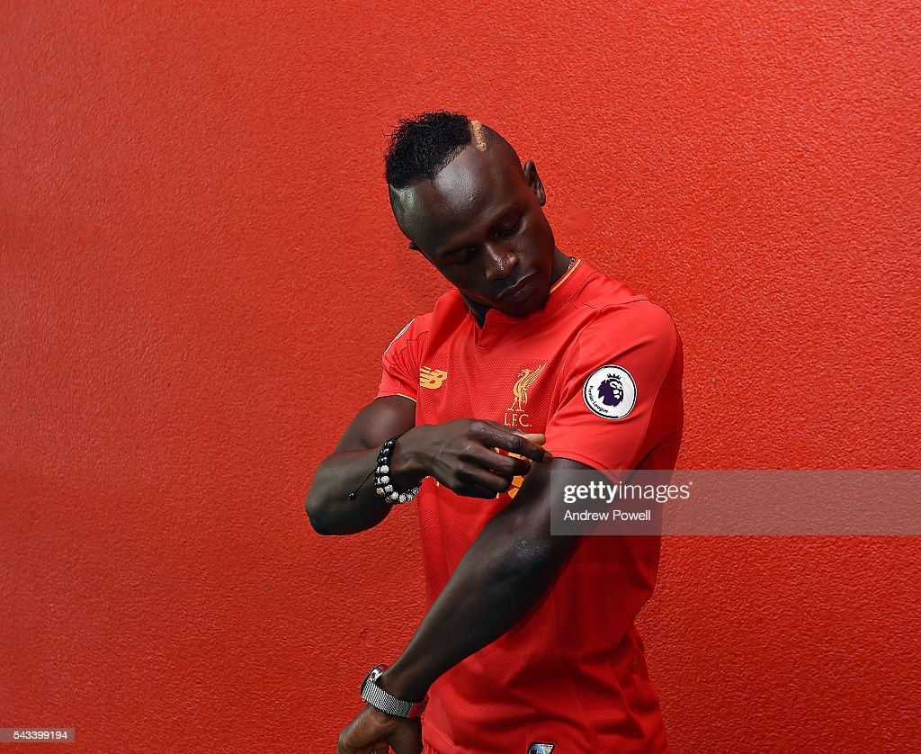 Liverpool Unveil New Signing Sadio Mane : News Photo