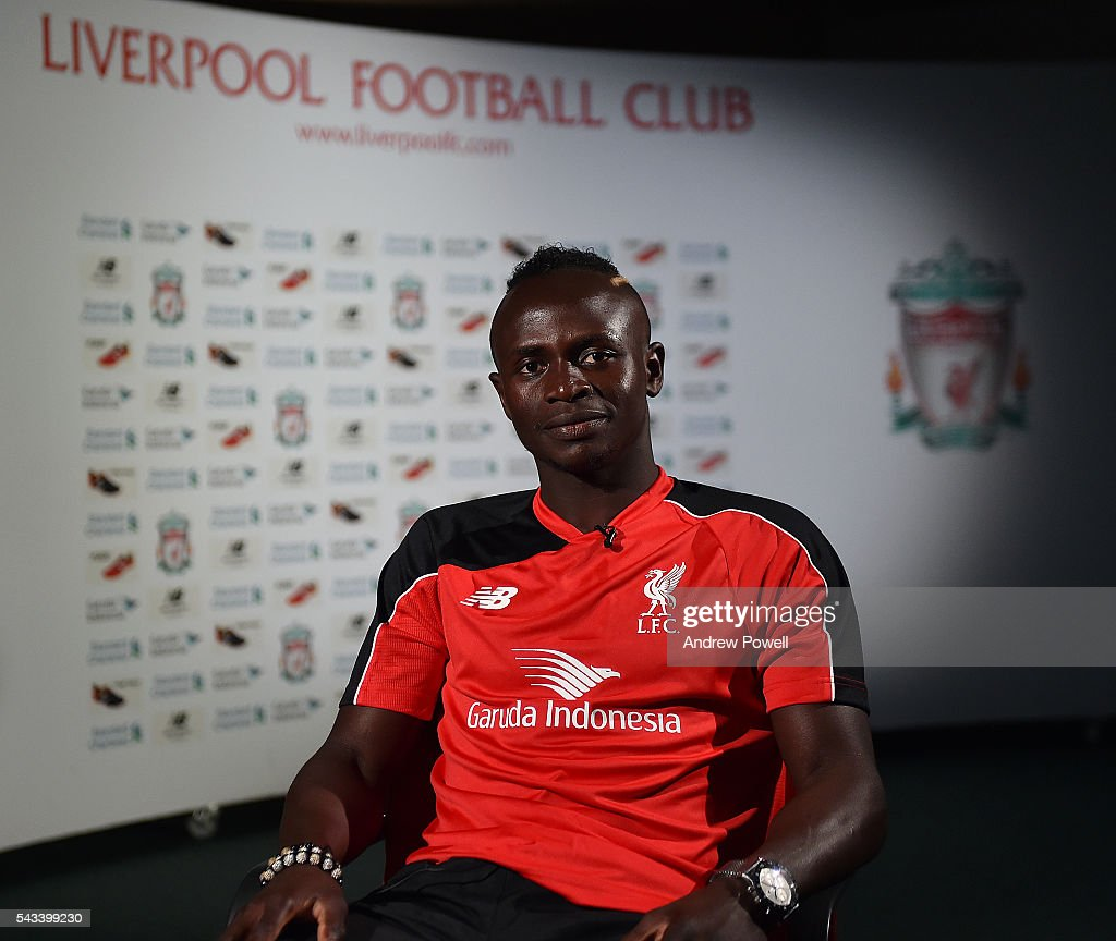 Sadio Mane new signing of Liverpool at Melwood Training Ground on June 28, 2016 in Liverpool, England.