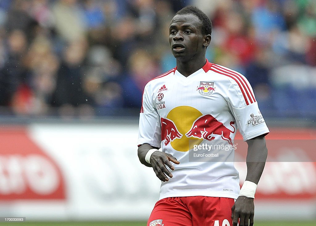 Sadio Mane of FC Salzburg in action during the Austrian Bundesliga match between FC Salzburg and FK Austria Wien held on May 26, 2013 at the Red Bull Arena in Salzburg, Austria.
