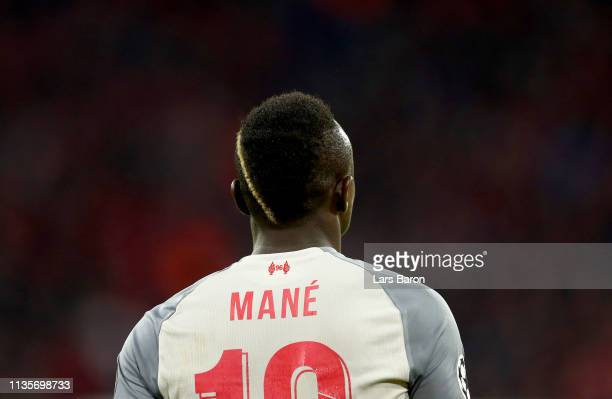 Sadio Mane of Leverpool is seen during the UEFA Champions League Round of 16 Second Leg match between FC Bayern Muenchen and Liverpool at Allianz...