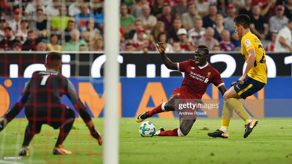 Sadio Mane of Liveprool during the Audi Cup 2017 match between Liverpool FC and Atletico Madrid at Allianz Arena on August 2, 2017 in Munich, Germany.