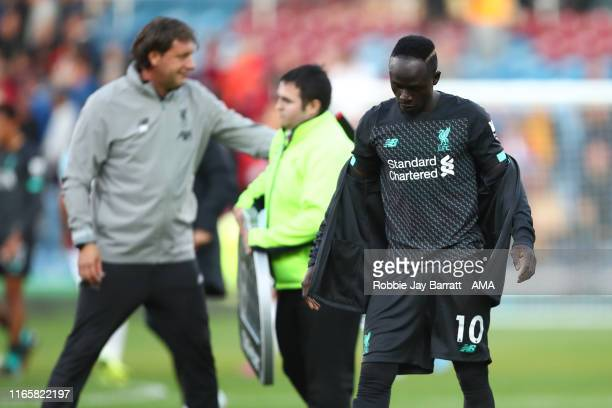 Sadio Mane of Liverpool at full time during the Premier League match between Burnley FC and Liverpool FC at Turf Moor on August 31 2019 in Burnley...