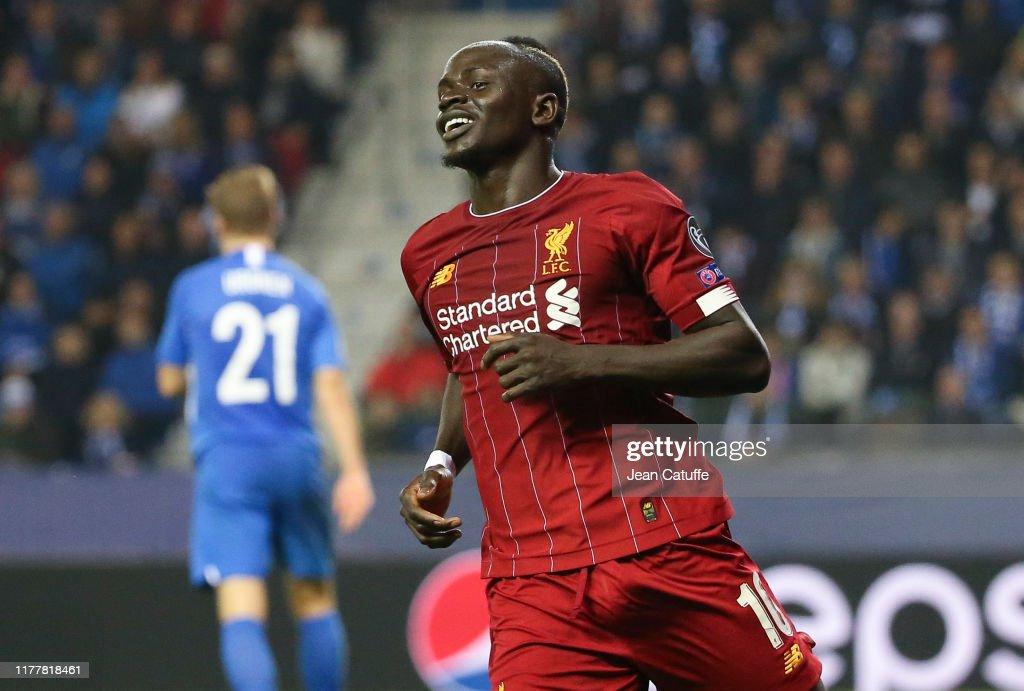 KRC Genk v Liverpool FC: Group E - UEFA Champions League : ニュース写真