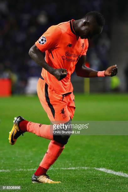 Sadio Mane of Liverpool celebrates scoring his sides fifth goal during the UEFA Champions League Round of 16 First Leg match between FC Porto and...