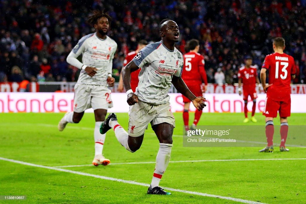 FC Bayern Muenchen v Liverpool - UEFA Champions League Round of 16: Second Leg : Foto di attualità
