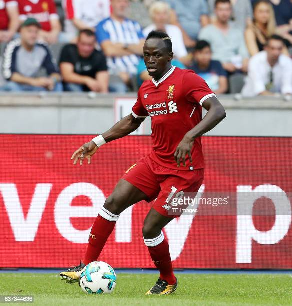 Sadio Mane of Liverpool controls the ball during the Preseason Friendly match between Hertha BSC and FC Liverpool at Olympiastadion on July 29 2017...