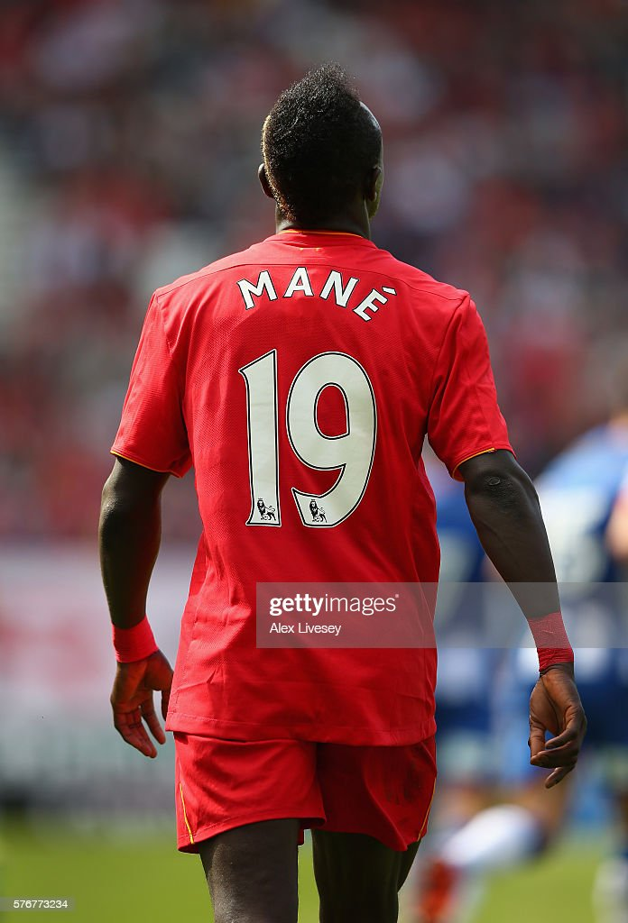 Sadio Mane of Liverpool during a pre-season friendly between Wigan Athletic and Liverpool at JJB Stadium on July 17, 2016 in Wigan, England.