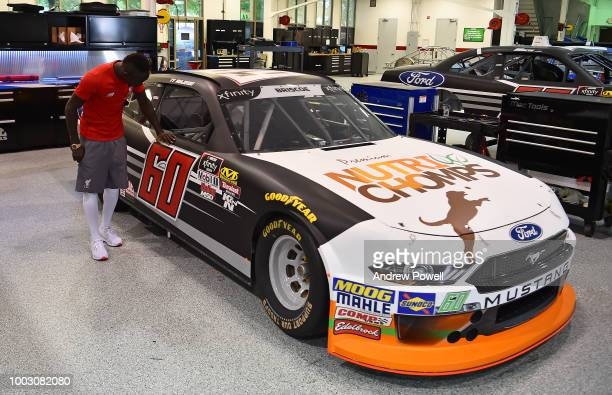 Sadio Mane of Liverpool during a tour of Roush Fenway Racing on July 21 2018 in Charlotte North Carolina