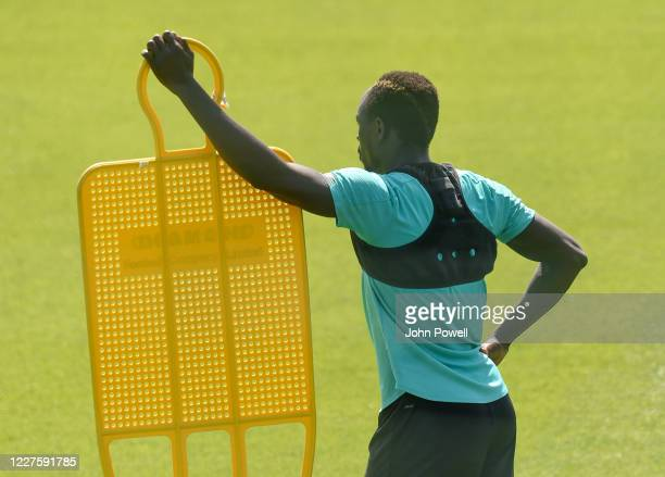 Sadio Mane of Liverpool during a training session at Melwood Training Ground on May 28 2020 in Liverpool England