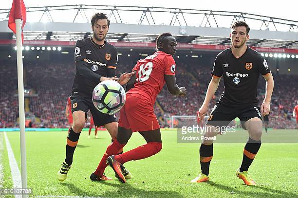 Sadio Mane of Liverpool during the Premier League match between Liverpool and Hull City at Anfield on September 24 2016 in Liverpool England